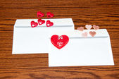 Heart in envelope. Happy Valentines Day — Fotografia Stock