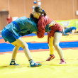 Stock Photo: Sambo or Self-defense without weapons. Competitions girls...