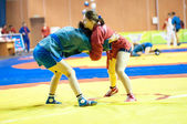 Sambo or Self-defense without weapons. Competitions girls... — Stock Photo