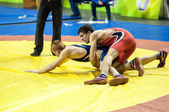 Sports wrestling competition between boys — Stock Photo
