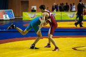 Sports wrestling competition between boys — Stockfoto