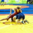 Foto de Stock  : Sports wrestling competition between girls