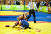 Sports wrestling competition between girls — Stockfoto