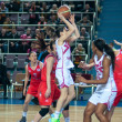 Basketball game RussiSpain — Stock Photo #39355063