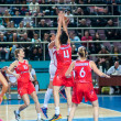 Basketball game RussiSpain — Stock Photo #39355193