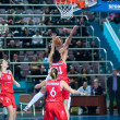 Basketball game RussiSpain — Stock Photo #39355253