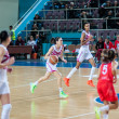 Basketball game RussiSpain — Stock Photo #39355395