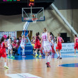 Basketball game RussiSpain — Stock Photo #39355449