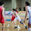 Basketball game RussiSpain — Stock Photo #39355541