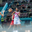 Basketball game RussiSpain — Stock Photo #39355583