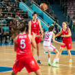 Basketball game RussiSpain — Stock Photo #39355627