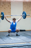Heavy athletics, weightlifter — ストック写真