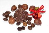 Chocolate candy with hazelnuts — Stock Photo