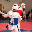 Stock Photo: Samoobronwithout arms - Taekwondo is Koremartial art.