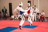 Samoobrona without arms - Taekwondo is a Korean martial art. — Stock Photo