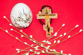 Easter egg and cross. — Stock Photo