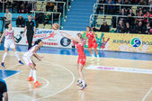 Basketball game Russia Spain... — Stock Photo