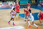 Basketball game Russia Spain... — Stock Photo