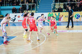 Basketball game Russia Spain... — Photo