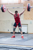 Heavy athletics, weightlifter... — Foto Stock