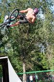 Fans of bike trial... — Stock Photo