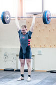 Heavy athletics, weightlifter... ... — Stok fotoğraf