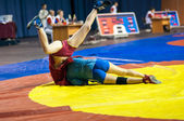 Sambo or Self-defense without weapons. Competitions girls... ... — Stockfoto