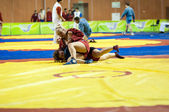 Sambo or Self-defense without weapons. Competitions girls... ... — Foto de Stock