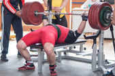 Orenburg oblast Championship Powerlifting — Stock Photo