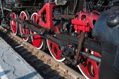 Details retro steam locomotive — Foto Stock