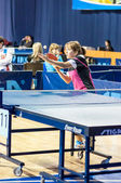 Competitions in table tennis — Stock Photo