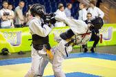 Kobudo competition between boys — Stock Photo