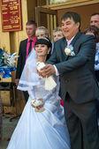 The bride and bridegroom — Stock Photo