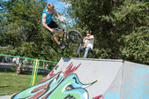 Fans of bike trial, — Stockfoto
