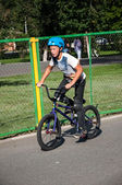 Fans of bike trial, — Foto Stock