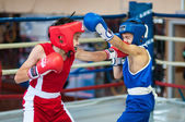 Competitions Boxing among Juniors, — Stock Photo