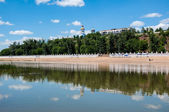 The Ural River is the natural boundary between Europe and Asia — Stock Photo