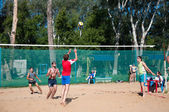 Beach Volleyball men — Stock Photo