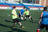 Boys play football — Stock Photo