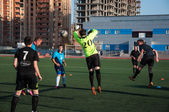 Soccer game The goalkeeper number 20 — Foto de Stock