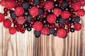 Assorted Berry on the wooden table — Photo