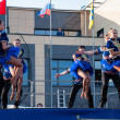 ������, ������: Russian folk dance is performed in the open sky