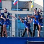 Russian folk dance is performed in the open sky — Stock Photo #50621451