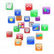Stock Photo: Apps icons