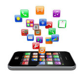 Smartphone apps icons — Stock Photo