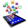 Tablet pc apps icons — Stock Photo