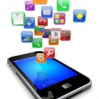 Stock Photo: Smartphone apps icons