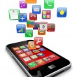 Smartphone apps icons — Stock Photo #16266439