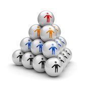 Teamwork pyramid — Stock Photo