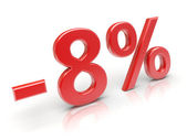 8 percent discount — Stock Photo